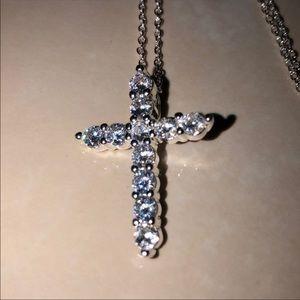 Jewelry - Diamond cross stamped 925 /cz